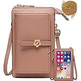 Handy Umhängetasche Geldbörse Damen Touchscreen Handtasche zum Umhängen Leder Schultertasche Klein Handy Tasche für iPhone 12