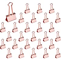 EFISH 19mm/25mm/32mm Wide Rose Gold Metal Big Swallowtail Clip/Paper Clips/Binder Clips File Paper Money Clamps for Tags…