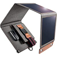 Solar-Ladegerät, 14W wasserdichtes tragbares USB-Solarpanel Ladegerät für Outdoor-Aktivitäten mit 4 faltbaren…