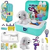 STAY GENT Gioco di Ruolo Valigetta Giocattolo Dottoressa Peluche per Bambini, Pet Play Set Zaino Kit con Accessori Veterinari