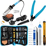 Soldering Iron, Soldering Iron Kit with Solder, 60W Adjustable Temperature Soldering Kit, 2 Soldering Tips, Desoldering…