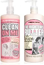 Soap And Glory (2 Pack) Soap & Glory Clean On Me Creamy Clarifying Shower Gel 500Ml & Soap & Glory The Righteous Butter Lotion 500Ml