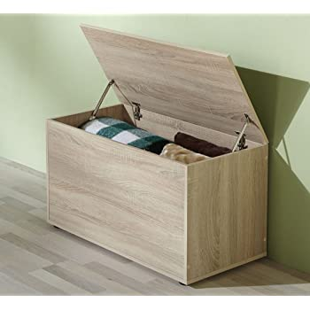 vcm sitztruhe krusona aufbewahrungsbox sitzbank sonoma eiche k che haushalt. Black Bedroom Furniture Sets. Home Design Ideas