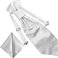 GASSANI Set di 3 cravatte, con spilla e fazzoletto da taschino in 23 design | già legati