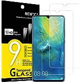 NEW'C 2-pack skärmskydd med Huawei Mate 20 – Härdat glas HD klar 9H hårdhet bubbelfritt