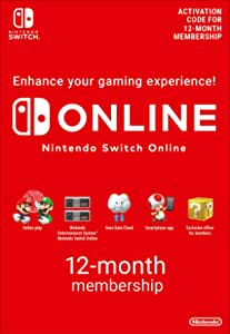 Nintendo Switch Online Membership - 12 Months   Switch Download Code