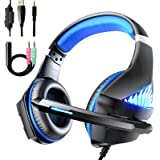 Viixm Cuffie Gaming per PS4 Xbox One, Cuffie da Gaming con microfono e Bass stereo, Microfono Riduzi...