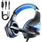Viixm Cuffie Gaming per PS4 Xbox One, Cuffie da Gaming con microfono e Bass stereo, Microfono Riduzione del Rumore Controllo