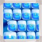 Blaue Wasser-Tastaturen