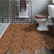 APSOONSELL Fliesenaufkleber Sechseck Badezimmer Für Boden Und Wände Motiv  Holz 3D Fliesen Renovieren O. Fliesenfarbe