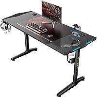 EUREKA ERGONOMIC Bureau Gaming P55 Bureau Gamer Bureau pour Gaming PC Informatique Table Desk avec RVB Bleu Tapis Souris…