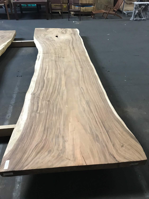 Buddha Art Lounge Baumstamm Esstisch, Tischplatte aus Suar Holz, Massivholz  Tisch mit Baumkante, Holztisch, Stück Suarholz, Baumscheiben Unikat, ...