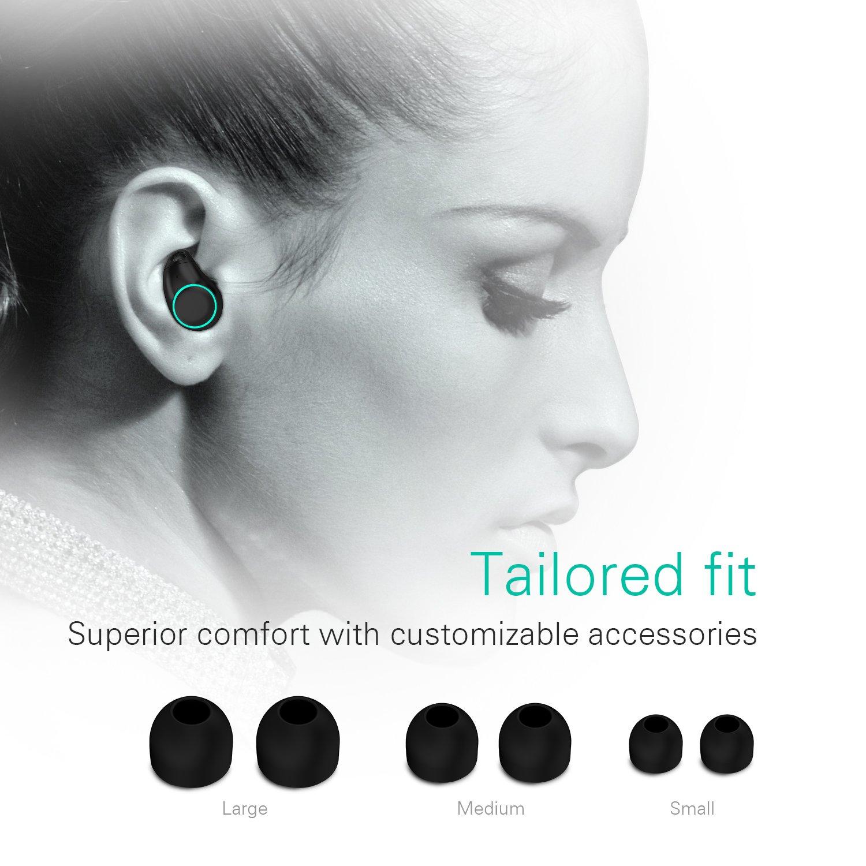 Holyhigh Auricolari Bluetooth Wireless Cuffie Sport Bluetooth V5.0 Mini  Stereo Cuffie Wireless Senza Fili con Stazione di Ricarica e Microfono  Incorporato ... 7aed9de64223