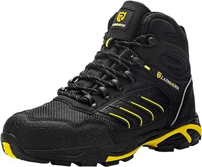 LARNMERN Chaussures de Sécurité Homme Embout Acier Respirant Chaussures de Travai Anti Ponction Baskets de Securite