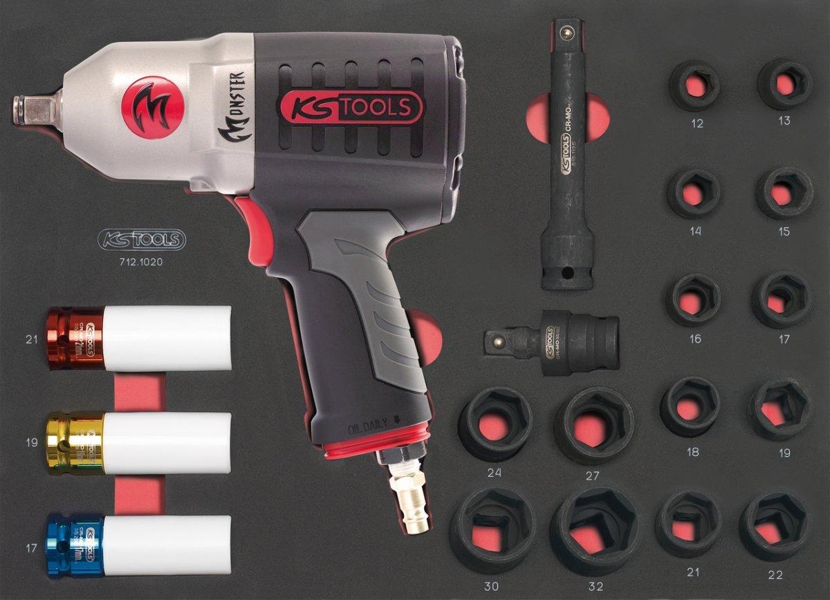 'KS Tools 712.1020Modul de DOUILLES/Druckluft Schlagschrauber 1/220-teilig