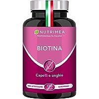 Biotina Nutrimea Trattamento 4 Mesi | 120 capsule | Zinco Selenio Vitamina B7 | Unghie | Acceleratore Crescita Capelli…