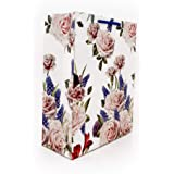 Arrow Paper Products Deluxe Rose Flower Paper Carry Bags (28 x 20 x 7.5 cm)- Pack of 20