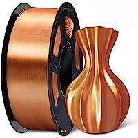 SUNLU Silk Copper PLA Filament 1.75mm 3D Printer Filament, 1KG 2.2 LBS Spool 3D Printing Material, Shiny Metallic PLA…