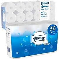 Kleenex, 8440, Rouleau de papier toilette standard, 3 épaisseurs, Blanc, 36 rouleaux de 350 feuilles