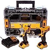 DeWalt DCK211D2T-QW gereedschapsset, 10,8 V, 2 Ah, boormachine/slagschroevendraaier