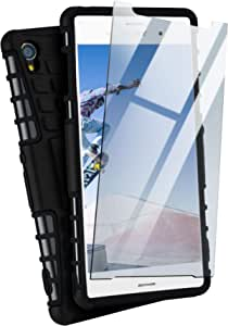Moex Panzerhülle Kompatibel Mit Sony Xperia Z3 Handyhülle Mit Panzerglas Extrem Stoßfest Panzer Outdoor Hülle 360