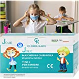 50 maskers Made in Italy voor kinderen met CE-certificeringen en verzegeld in 5 verpakkingen van elk 10 stuks.