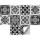 Andiker 20 Feuilles Mural Stickers Carrelage de 15cm X 15cm, Imperméables Carreau de Ciment Adhesif pour Cuisine, Salle de Ba