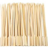 Aneco 100 Pieces Bamboo Paddle Skewers Barbecue Bamboo Skewers Cocktail Sticks for Barbeque, Kebabs, Burgers, Cocktails, Buffets Party