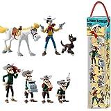 Plastoy SAS PLA70387 Lucky Luke Tube Lucky Luke - Juego de 7 Figuras