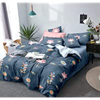THE HOME STYLE Super Soft Glace Cotton King Size AC Comforter/Blanket/Duvet for Double Bed (Design 1) (Comforter)