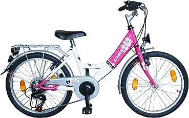 Delta Kinderfahrrad 20 Zoll Mädchenfahrrad 6 Gang Shimano Schaltung StVZO tauglich Rosa