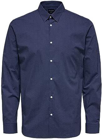 Selected Men's Slhslimmichigan Shirt Ls B Noos