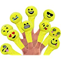 House of Quirk Mini Soft Plush Finger Emojis Puppet - 12 pcs