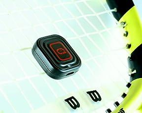 QLIPP Plus Tennis Sensor | Tennis Spielanalyse und Spielaufzeichnung | Universell für alle Tennis Schläger | Video Wiedergabe Tracker | Sensor Verbindung mit Bluetooth