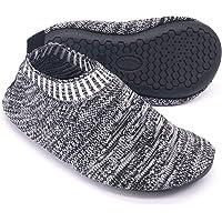 Dream Bridge Kids Slipper Socks Anti-Slip Knit Sock Slippers for Boys Girls Indoor Outdoor Socks with Rubber Bottom Sole