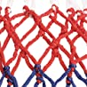 TRIXES Red de baloncesto de 12 lazos de nylon rojo blanco azul