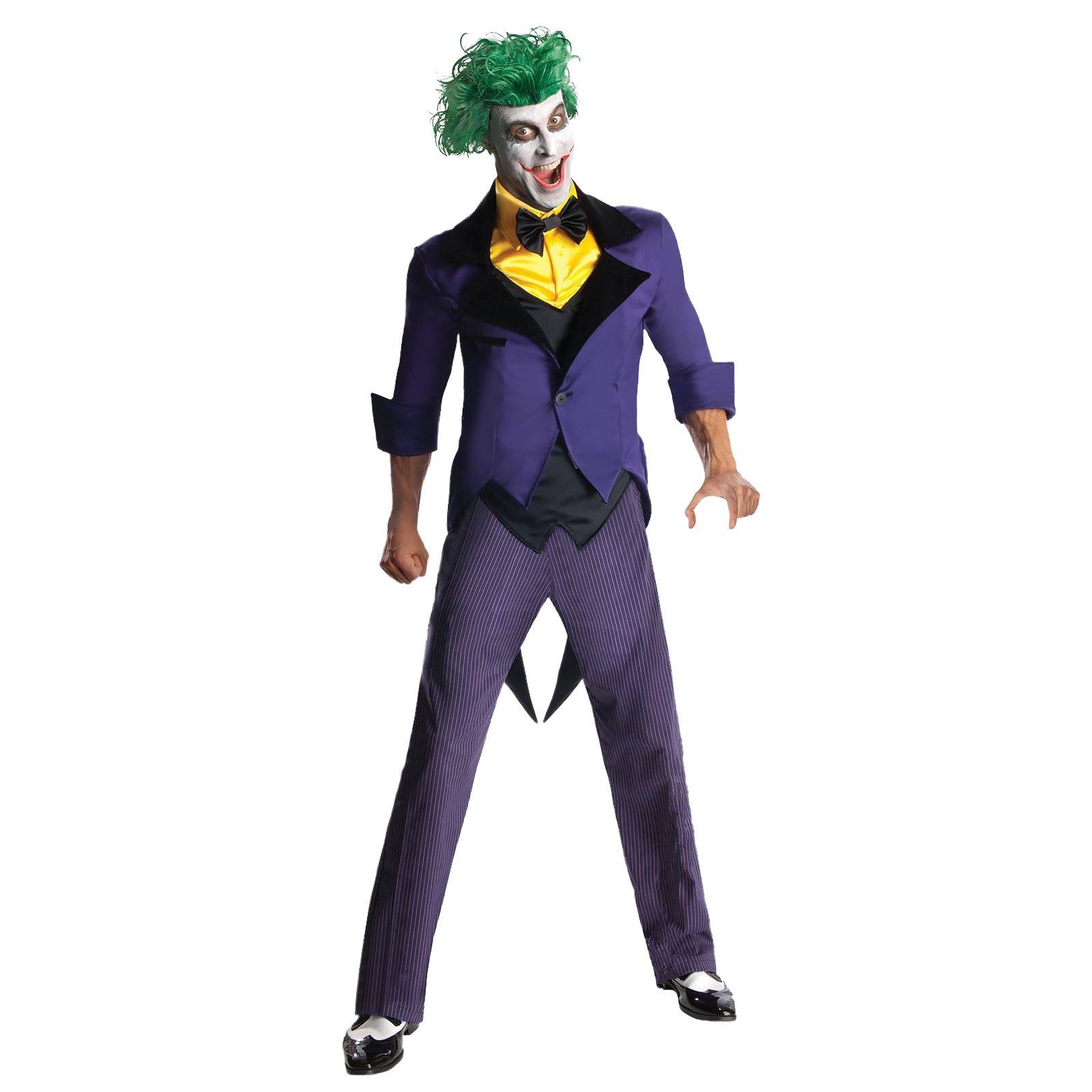 Joker Kostüm Batman Gotham City Most Wanted 2-TLG DC Comics Herren Kostüm Jacke Hose - XL