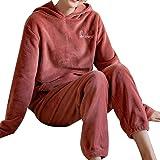 GOSO Pijama de Forro Polar para niñas,Pijama de Invierno cálido para Adolescentes niñas,Pijamas y Pantalones Largos,Pijamas p