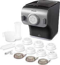 Philips HR2358/12 Pasta Maker Plus Macchina per la Pasta, 200 W, 500 g, POM, Grigio/Argento