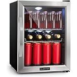 Klarstein Beersafe Fridge - Refrigerator, Cooler, Removable Shelves, 5 Temperatures, Stainless Steel, 2 Chrome-Metal…