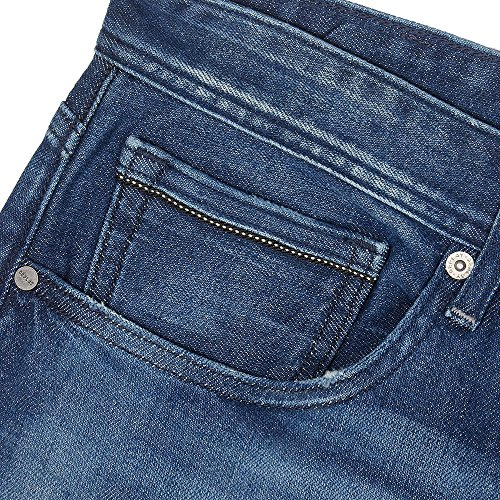 Replay Herren Straight Jeans Grover Blau