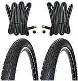 2 x Kenda Fahrradreifen Pannensicher 26 Zoll 50-559 - 26 x 1.95 - inklusive 2 x Schlauch mit Autoluftventil