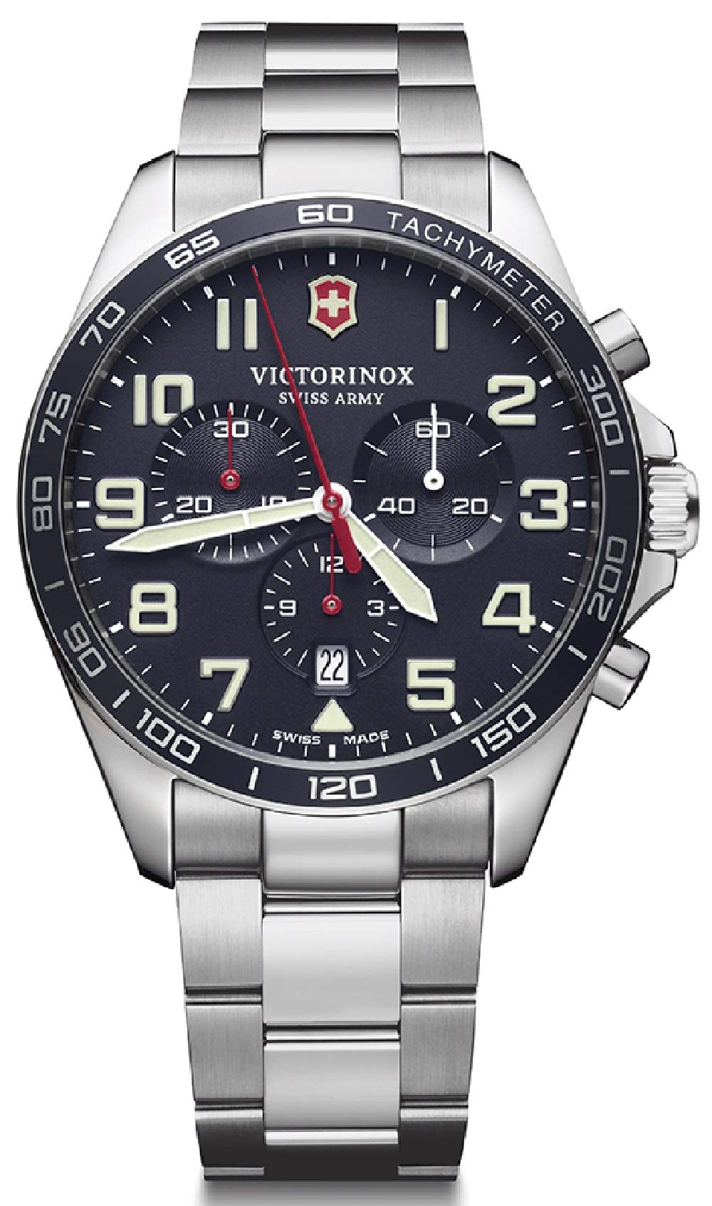 Victorinox Field Watch Mens Analogue Quartz Watch with Stainless Steel Bracelet V241857