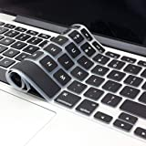 """OJOS TPU Cover Ultra Thin Keyboard Skin for MacBook Air 13"""" (Black)"""