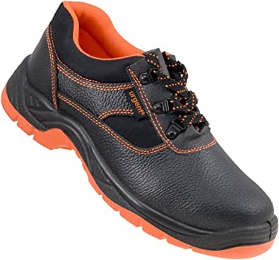 Urgent Leightweight Leather Men 's Shoes Safety Work Shoe with Steel Toe Cap 201 S1 Orange