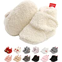 Stivaletti Caldi da Bambina per Bambini, Scarpe da Bambino Antisdrucciolevoli Unisex in Morbido Cotone Bianco Carino…