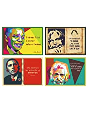 Vantagekart Motivational Inspirational Self Adhesive Posters (Paper , A5 Size, 21 x 14.8 x0.1 cm, 5.83 x 8.27-inch, Multicolour) -Set of 15 Poster