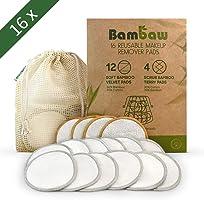 Discos Desmaquillantes | 16 Discos Desmaquillantes Reutilizables | Con Bolsa de Lavado | Hechos en Fibra de Bambú |...