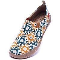 UIN Scarpe Ginnastica Scarpe Espadrillas Donna Casual Slip on Mocassini Sneakers Basse Colorate in Tela Dipinta a Mano