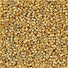 Miyuki Delicas Tamaño 10/0–Duracoat Galvanized Oro 7,2g